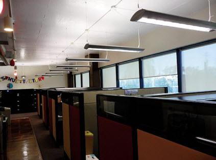 low profile linear fluorescent light fixtures | office light