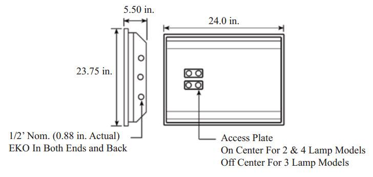 Parabolic 2x2 Grid Light Fixture 9 Cell Fluorescent