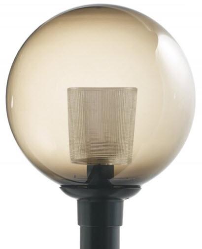 16 inch smoke globe cfl light fixtures 16 globe light. Black Bedroom Furniture Sets. Home Design Ideas