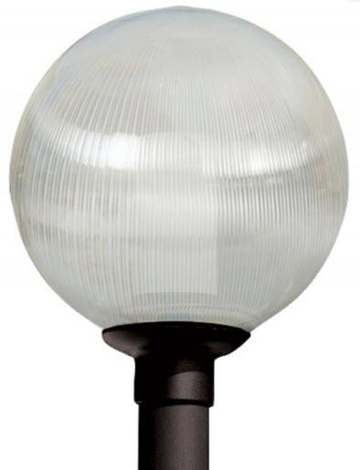 12 Inch Polycarbonate Prismatic Globe Light Fixture