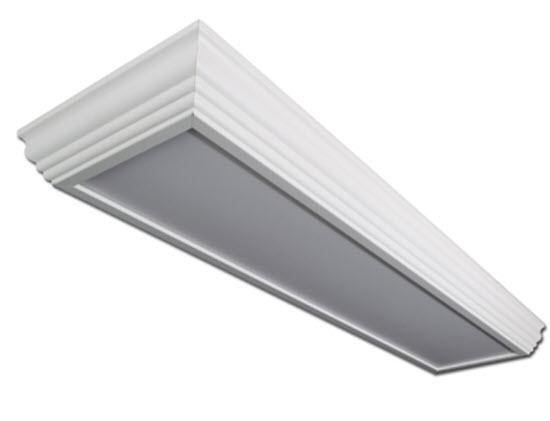 LED 2x4 crown molding surface mount light fixture : LED crown molding light fixture ...