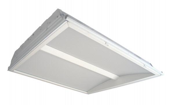 led 2x2 dual lens concave light fixture led concave light fixtures. Black Bedroom Furniture Sets. Home Design Ideas