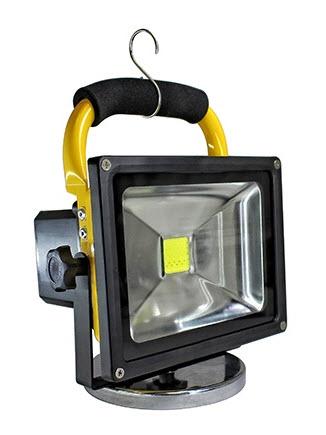 led portable 12 volt flood light fixture 20 watts led portable light fixt. Black Bedroom Furniture Sets. Home Design Ideas