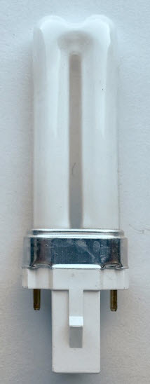 5 watt twin tube compact fluorescent lamps with 2-pin with 2700K color