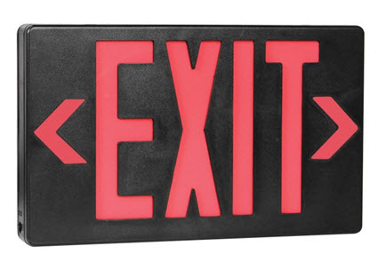 LED double face black exit signs