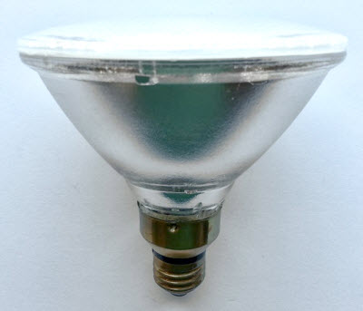Metal halide ceramic PAR38 light bulbs.