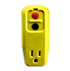 Single outlet GFCI portable protector with 1 outlet
