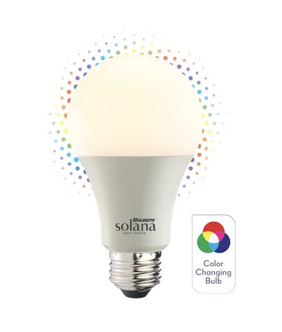 Bulbrite Smart LED Solana White / Color Light Bulbs - 8 Watt
