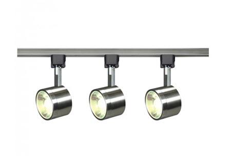 Satco Led Round Brushed Nickel Track Light Fixture 3