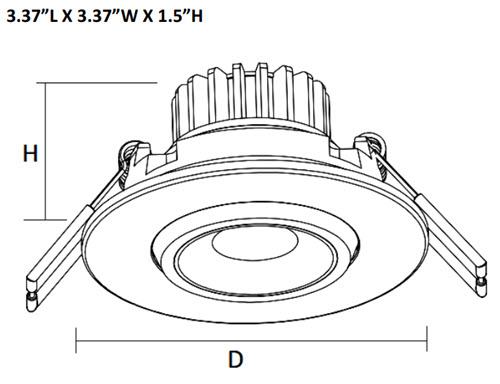 Westgate Led Adjustable Recessed Light Fixture