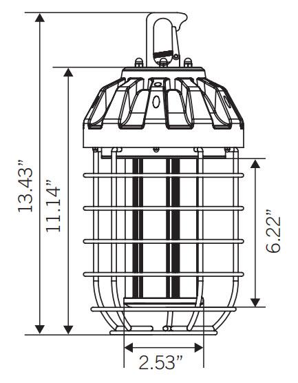 Keystone Led Temporary Construction Light Fixture 100 Watt