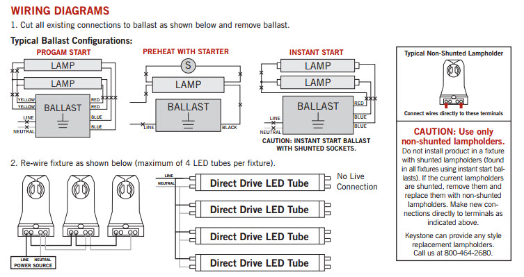 LEDDirectDriveLightBulbsWiring keystone led t8 retrofit light bulbs led lighting fixture Light Fixture Wiring Diagram at nearapp.co