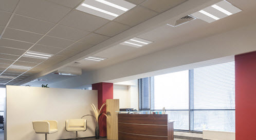 2X2 LED MicroT light fixtures LED 2x2 office light fixture