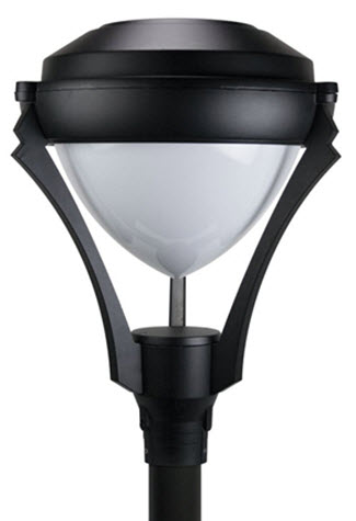 Led contemporary post top light fixture aloadofball Images
