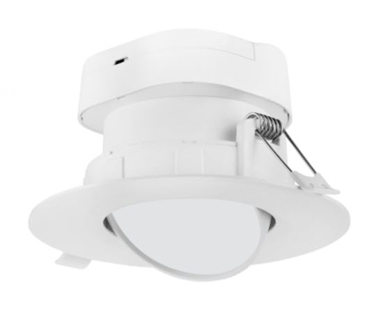 Nuvo LED Direct Wire Gimbal Down Light Fixture - 4 Inch - 4000K