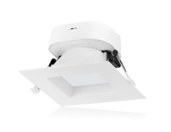 Nuvo LED Direct Wire Square Down Light Fixture - 4 Inch - 4000K