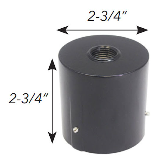2 Inch slip fitter adapter with 1/2 inch NPT threaded hub