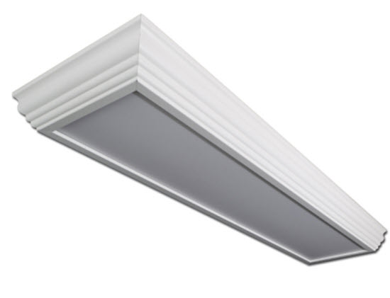 LED 2X4 crown molding surface troffer light fixture  sc 1 st  BuyLightFixtures.com & LED 2x4 crown molding surface mount light fixture | LED crown ... azcodes.com