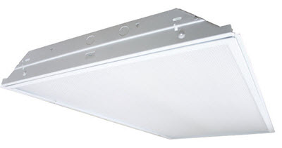 Lay-in T8 troffer 2X4 grid troffer light for wide light coverage in office lighting.