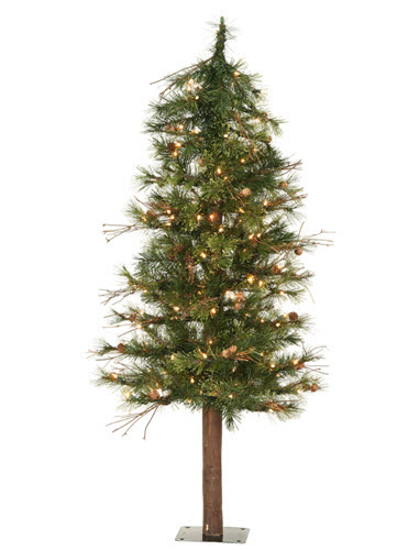 6' foot mixed country alpine tree featuring and 250 clear lights