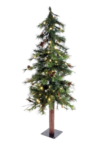 7' foot country alpine christmas tree featuring and 250 LED clear lights