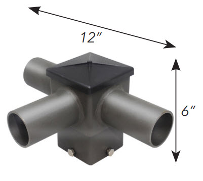 "Tenon Top 90 Twin Horizontal Adapter for 4"" square"