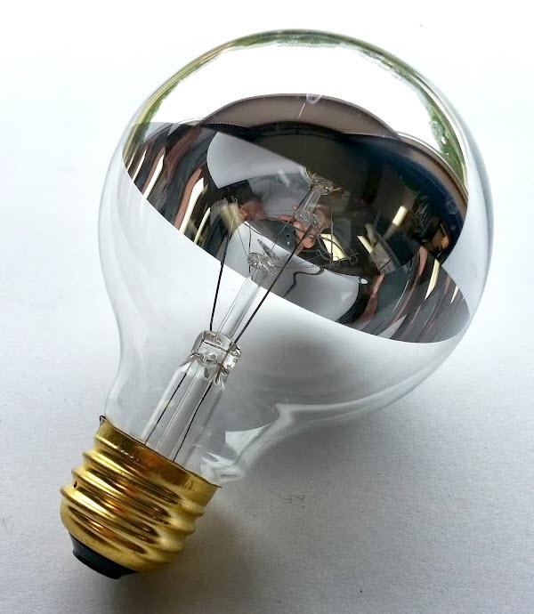 Half chrome g25 globe light bulbs shop great prices and for Buyers choice light bulbs