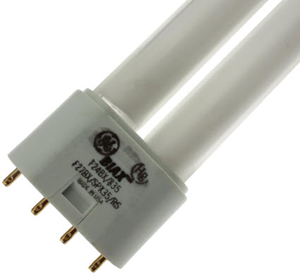 GE F27BX SPX35 long biax fluorescent light bulbs