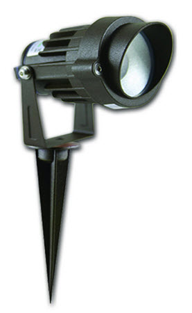12 volt landscape flood LED lighting fixture - 3000K