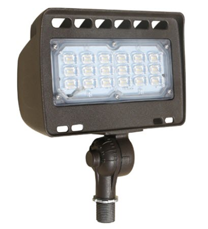 LED 12 volt flood light fixture - 24 watt - 3000K