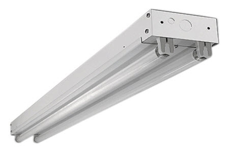 LED two lamp strip light fixture 5000K.