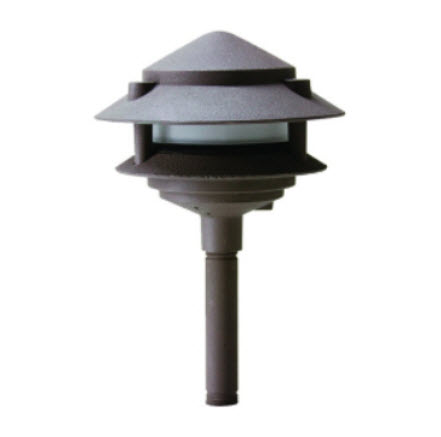 LED 2-Tier pagoda light fixture - bronze finish
