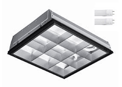 2X2 LED parabolic light fixture - 2-LED lamp - 30 watt