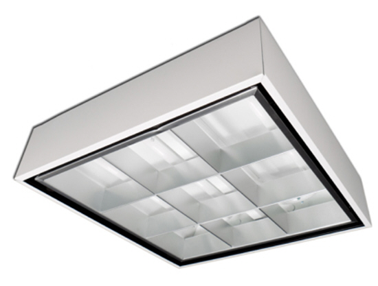 LED 2FT x 2FT surface parabolic office Light Fixture 20-pack - 2 lamps included