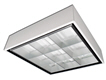 LED 2x2 surface mount parabolic light fixture - 2 lamps included 3500K