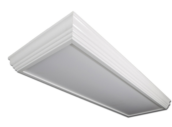 LED 2X4 crown molding lighting fixture - 57 watt - 5000K