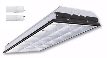 2X4 LED parabolic light fixture - 2-LED lamp - 36 watt
