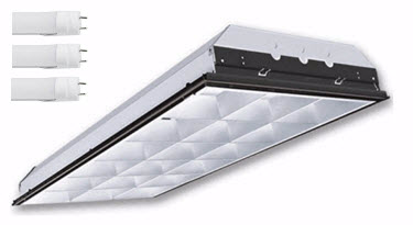 LED parabolic lay in 2x4 light fixture - 3-LED lamp - 4000K