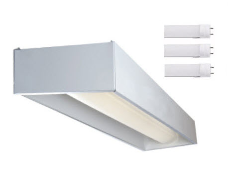 5000K 2X4 LED 32-Cell Parabolic Light Fixture with 4 LED Lamps Included