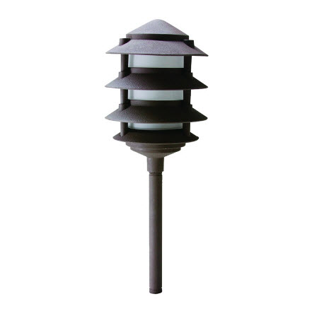 LED 4-Tier pagoda light fixture - bronze finish
