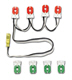LED 4 lamp prewired sockets only retrofit lighting kit