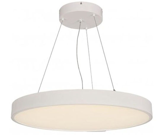 LED architectural round suspended down lighting fixture - 5000K