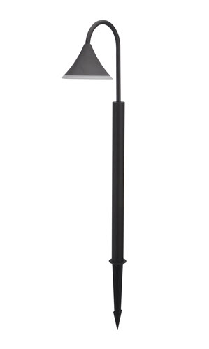 LED area 12 volt light fixture 130 series black with ground mount stake