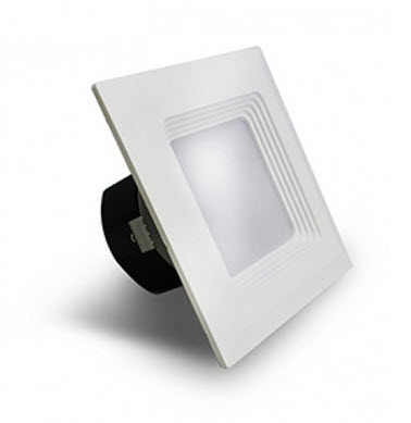 Westgate LED baffled square recessed retrofit light fixture - 2700K