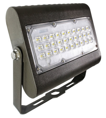 LED bracket mount flood light fixture - 50 watt - 5000K