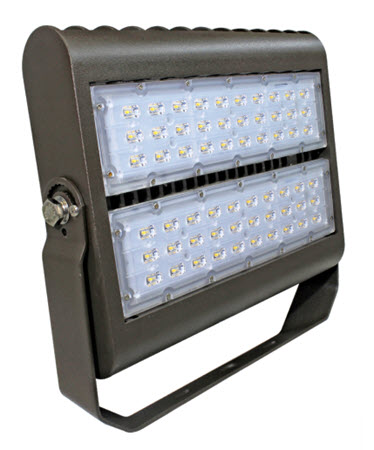 LED bracket mount flood light fixture - 150 watt