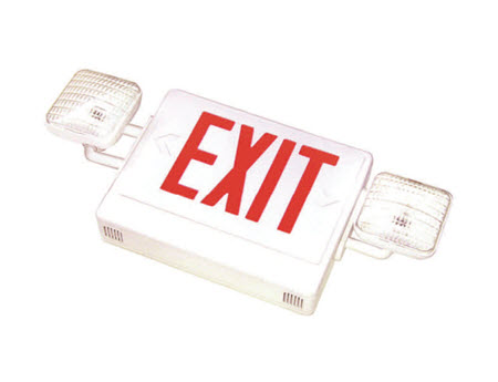 LED emergency exit signs - red letters