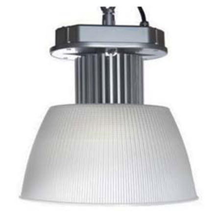 LED conventional frosted acrylic bay light fixture in 100 watts