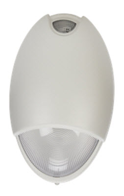 LED decorative white emergency light fixture