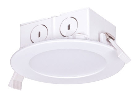 LED edge-lit downlight retrofit light fixture - 4 inch
